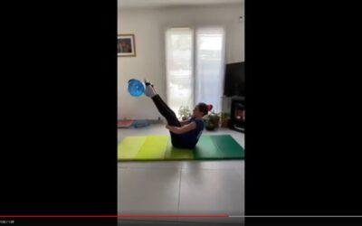 Aquafitbag M : Séance d'exercices avec Eléa 11 ans