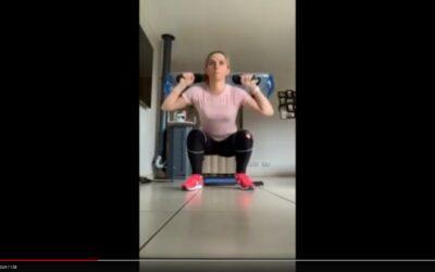 Aquafitbag M : Séance circuit training de Laura