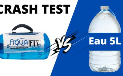 Crash test comparatif Bouteille d'eau 5L avec haltère Aquafitbag XS