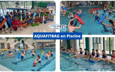 Aquafitbag en piscine à St Chely avec des futurs maîtres nageurs